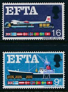 1967 GB EFTA SET OF 2 (ORD) FINE MINT MNH SG715-SG716