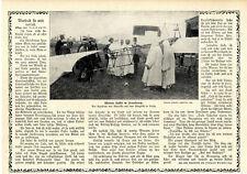 Mulay Hafid Exsultan v.Marokko auf dem Flugfeld in Vichy Histor.Aufnahme v.1912