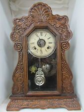Antique Ansonia Cottage Beehive Mantle Clock With Alarm Bell
