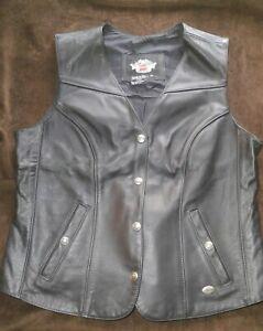 Women's Leather Harley Davidson Vest Size 1W