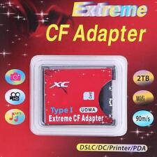 Memory Card Reader Adapter SDXC SDHC SD to CF Compact Flash Type I High for SLR