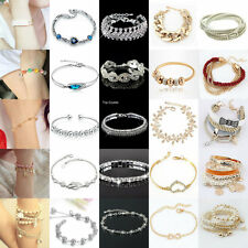 Chic 60 Styles Girl's Crystal Rhinestone Gold/Silver Plated Bangle Bracelet Gift