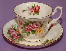 Royal Albert  English Bone China Teacup & Saucer Duo WESTBURY Summertime Series
