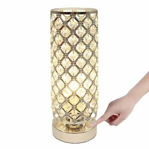 Sliver Crystal Touch Control Table Desk Lamp, Acaxin Dimmable Bedside Lamp Led W