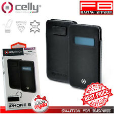 Cover for Iphone 5S Celly Win Genuine Leather Facile Extraction Case Gift Idea