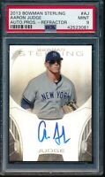 AARON JUDGE AUTO 2013 Bowman Sterling Autograph REFRACTOR #/150 RC PSA 9 MINT