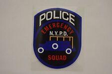INSIDE WINDOW STICKER  NEW YORK POLICE  EMERGENCY SQUAD