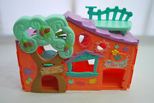 Littlest Pet Shop Orange Treehouse Playhouse w/ Accessories & 3 Random Pets