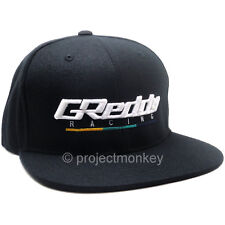 Greddy Racing 3D Embroidered Snapback Adjustable Hat Cap Black Genuine Trust JDM