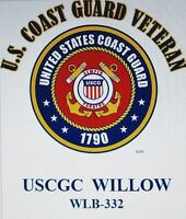 USCGC WILLOW  WLB-332* BUOY TENDER  U.S.COAST GUARD VETERAN EMBLEM*SHIRT