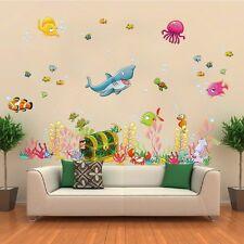 Wandtattoo Wandsticker Nemo Hai Meer Fisch Aquarium Wasser Kind Baby Aufkleber