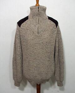 Strick Pullover von Aran Crafts Grösse M Herren Worker Schurwolle O438