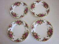 Royal Albert Old Country Roses Bread and Butter Plates 1962 made in England