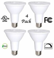 4 Pack Bioluz LED PAR30 LED Bulb, 12w Dimmable Flood Light Bulb, 100w Halogen...