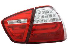 Indietro Posteriore Luci Di Coda Per BMW E90 Saloon 05-08 in Rosso-Clear a LED LIGHTBAR