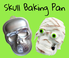 Skull Baking Pan Giant Skull Shape Cake Fondant Biscuit Cookies Tray Hallowen
