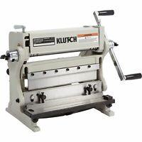 Klutch 3-In-1 Combination Sheet Metal Machine - 12in.W Capacity