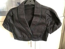 New BANG Couture Short Sleeve Jacket Sz 12 Black RRP $160 FREE POSTAGE
