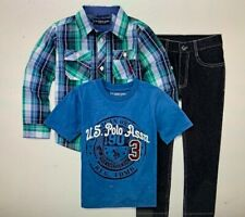U.S. Polo Assn. 3-pc. Checked Pant Set Boys Size 4t