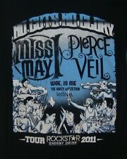 Pierce The Veil Miss May Rockstar Energy drink Concert Tour 2011 T Shirt Adult S