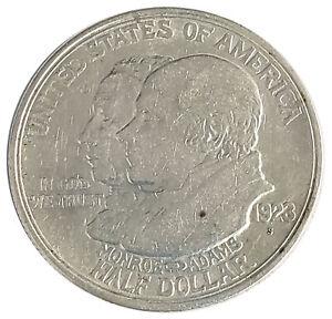 1923 S Monroe Doctrine Centennial Half Dollar Commemorative