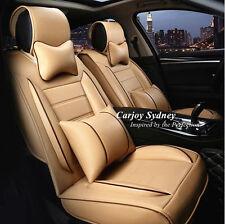 Car Seat Cover Beige Cream PU Leather Honda CRV Mazda BMW Toyota Corolla Camry