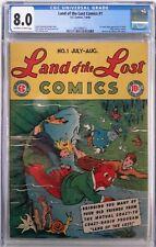 **LAND OF THE LOST COMICS #1 CGC 8.0**(JUL-AUG 1946, EC)**1ST APPEARANCE**SCARCE