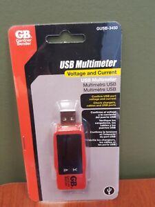 New Gardner Bender LCD USB Multimeter Tester  GUSB-3450. FREE SHIP