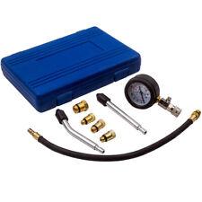 Engine Cylinder Compression Pressure Tester Gauge Test Adaptor Pipes Tool Kit