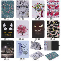 Sleep/Wake Leather Wallet Card  Stand Case Cover Skin For iPad Samsung Tablet KT