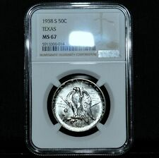 1938-S TEXAS COMMEMORATIVE ✪ NGC MS-67 ✪ 50C SILVER SUPERB GEM UNC 014 ◢TRUSTED◣