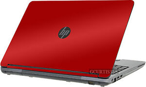 RED Vinyl Lid Skin Cover Decal fits HP ProBook 655 G1 Laptop