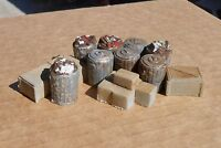 Downtown Deco 1/48 O On30 Scale Garbage Cans Details Unpainted buy 2 get 1 free!