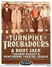 TURNPIKE TROUBADOURS / ROOT JACK 2013 PORTLAND CONCERT TOUR POSTER -Country Rock