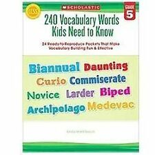 240 Vocabulary Words Kids Need to Know: Grade 5: 24 Ready-to-Reproduce Packets
