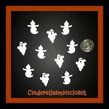 50 HALLOWEEN WHITE GHOSTS GHOST DIE CUTS PUNCHES 2 SHAPES CONFETTI