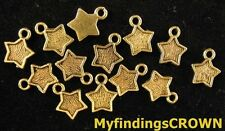 200 pcs Antiqued gold Star charms FC681