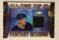 19-20 Leaf In The Game Used Hockey Brett Hull Fantasy Season Relic /25 Nhl Blues