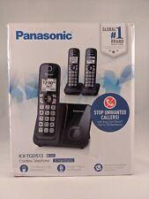Panasonic KX-TGD513 Cordless Phone with 3 Handsets, Call Block, Black