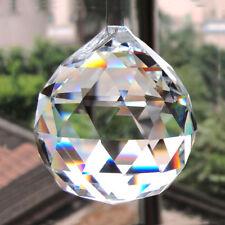 Clear Crystal Feng Shui Lamp Ball Prism Rainbow Sun Catcher Wedding 30mm Decor