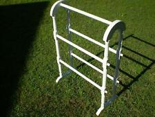 Shabby white painted timber 5 rail towel rack beach or country style