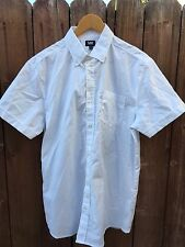 Men's LEE Short Sleeve Shirt White Size Large