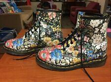 SUPER RARE Dr Marten Vtg 90s Vintage Docs Floral Boots Sienna Miller US 8 - 8.5