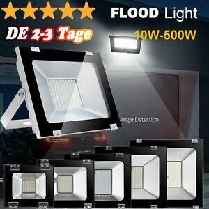 LED FLuter Flutlicht SMD Außenprojekt Strahler Lampe Straßenlaterne Weiß IP67 DE