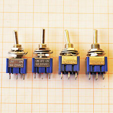 6A 250VAC ON-OFF-ON mini Toggle Switch XURUI DPDT SPDT mts