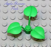 NEW Lego Bright GREEN PLANT Bush w/3 Leaves -City Minifig Garden Tree Leaf Shrub