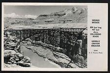 Postcard RPPC Navajo Bridge Marble Canyon Arizona