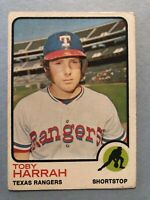 1973 Topps Baseball Card #216 Toby Harrah Texas Rangers
