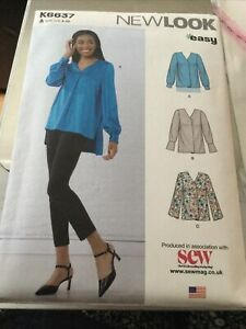 Newlook Easy K6637 Misses 7 Sizes In 1 Blouses / Jackets A US Sizes 8- 20 New