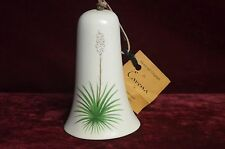 """Porcelain Bell 5"""" X 9"""" Od New Mexico State Flower Yucca Plant Is Picture On Bell"""